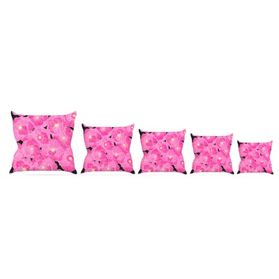 In Bloom Throw Pillow Size: 20 H x 20 W x 4 D, Color: Pink