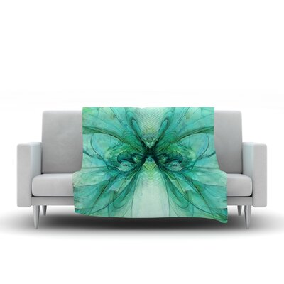 Butterfly Blue by Alison Coxon 40 Fleece Throw Blanket Size: 40 L x 30 W, Color: Blue