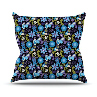 Florals by Carolyn Greifeld Throw Pillow Size: 16