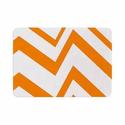 ZigZag by NL Designs Memory Foam Bath Mat Color: Orange