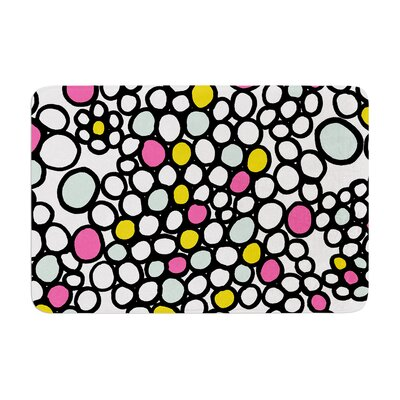 Pebbles by Emine Ortega Bath Mat Color: Pink, Size: 17W x 24L