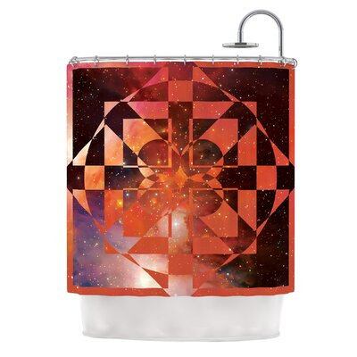 Galactic Hope by Matt Eklund Shower Curtain Color: Red/Orange