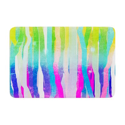 Jungle Stripes by Frederic Levy-Hadida Bath Mat Color: Pastel, Size: 17W x 24L