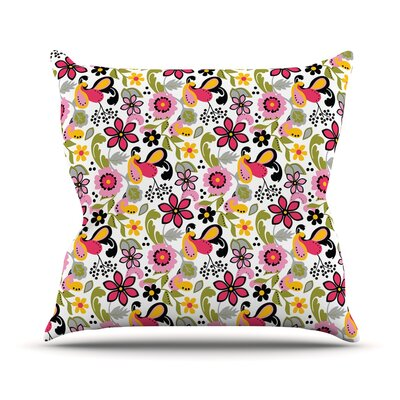 Pretty Florals by Carolyn Greifeld Throw Pillow Size: 26 H x 26 W x 5 D