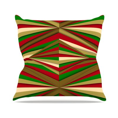 Christmas Pattern by Danny Ivan Throw Pillow Size: 20 H x 20 W x 4 D
