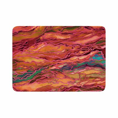 Marble Idea! by Ebi Emporium Memory Foam Bath Mat Size: 24 L x 17 W, Color: Orange/Red