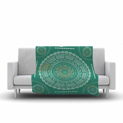Medallion Fleece Throw Blanket Size: 80