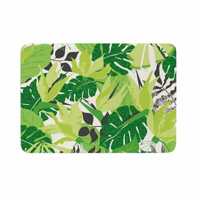 Tropicana by Jacqueline Milton Bath Mat Color: Green