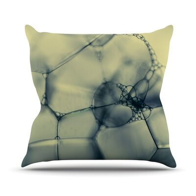 Bubbles by Ingrid Beddoes Outdoor Throw Pillow Color: Blue