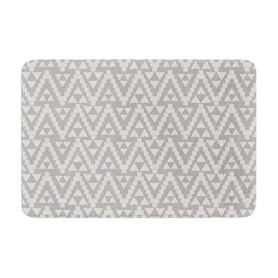 Geo Tribal by Amanda Lane Bath Mat Color: Gray, Size: 17W x 24L