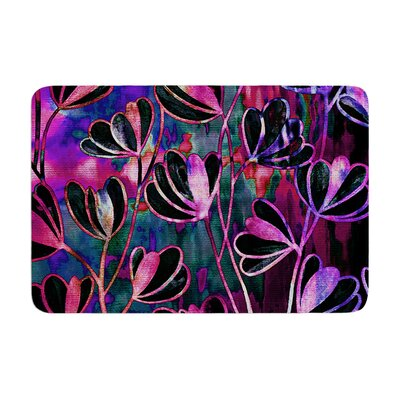 Effloresence by Ebi Emporium Bath Mat Color: Mixed Berry, Size: 17W x 24L