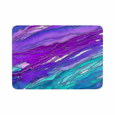 Agate Magic by Ebi Emporium Memory Foam Bath Mat Size: 24 L x 17 W, Color: Purple/Blue