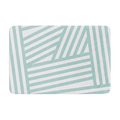 Stripes by Louise Machado Bath Mat Color: Aqua