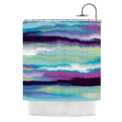 Artika by Nina May Shower Curtain Color: Teal/Purple