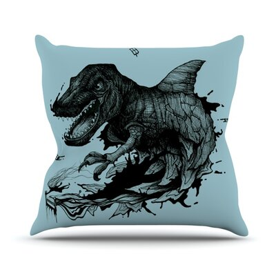 The Blanket by Graham Curran Outdoor Throw Pillow Color: Blue