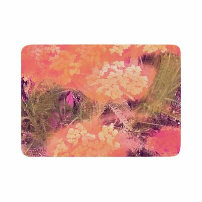 Wildflowers by Nina May Memory Foam Bath Mat Color: Yellow