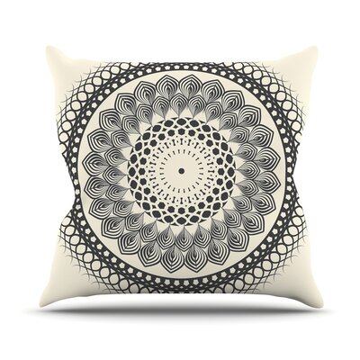 Boho Mandala by Famenxt Throw Pillow Size: 16 H x 16 W x 3 D