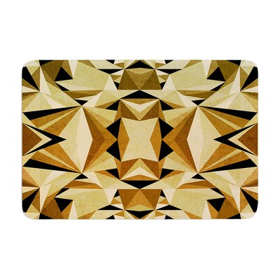 Abstraction by Nika Martinez Bath Mat Color: Blue/Gold