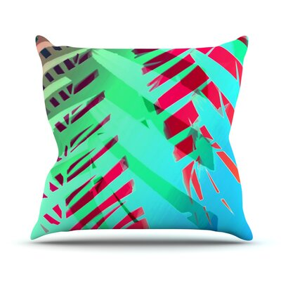 Tropical by Alison Coxon Outdoor Throw Pillow Color: Blue/Green