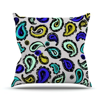 Fun by Gabriela Fuente Outdoor Throw Pillow Color: Blue