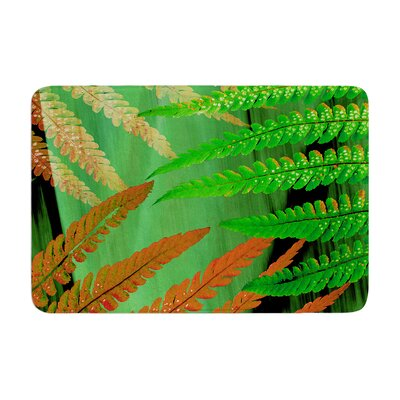Forest Fern by Alison Coxon Bath Mat Color: Russet, Size: 17W x 24L