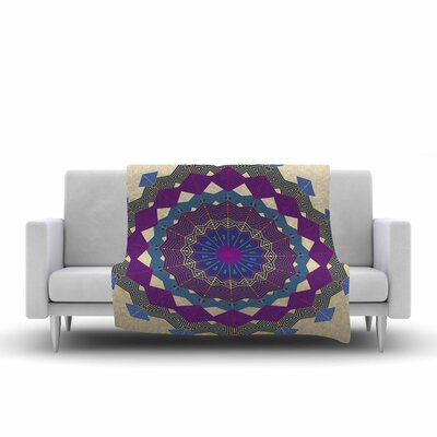 Composition by Angelo Carantola Fleece Blanket Color: Purple
