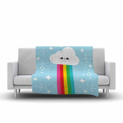 Mr. Rainbow Fleece Throw Blanket Size: 60 L x 50 W