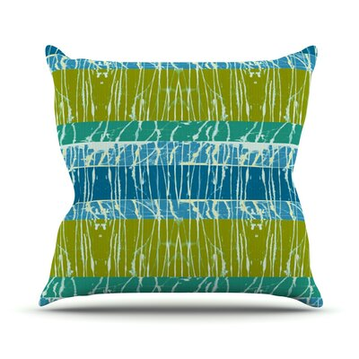 Century City Splatter by Nina May Outdoor Throw Pillow Color: Green/Blue