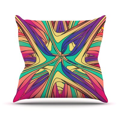 Veins by Danny Ivan Throw Pillow Size: 26 H x 26 W x 5 D