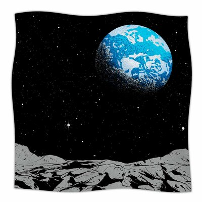 From The Moon Fleece Throw Blanket Size: 90 L x 90 W