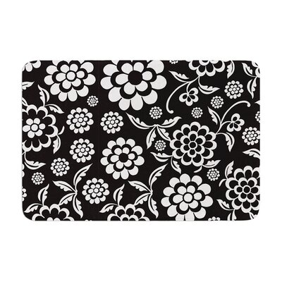 Cherry Floral by Nicole Ketchum Bath Mat Color: Black