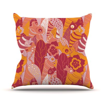 Fishes Here, Fishes There 3 by Akwaflorell Throw Pillow Size: 16 H x 16 W x 3 D
