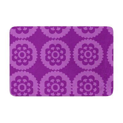 Moroccan by Nicole Ketchum Bath Mat Color: Purple