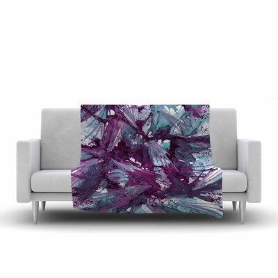 Birds of Prey Throw Blanket Size: 60 L x 50 W, Color: Aqua/Purple
