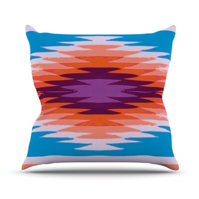 Surf Lovin Hawaii by Nika Martinez Outdoor Throw Pillow Color: Blue/Orange