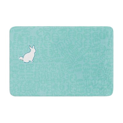 Oliver by Theresa Giolzetti Bath Mat Color: Teal