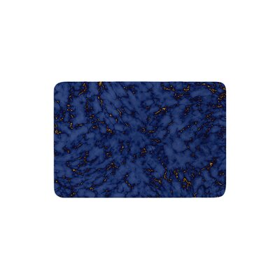 Marble by Will Wild Bath Mat Color: Blue/Gold