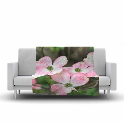 Flowering Dogwood Fleece Throw Blanket Size: 80 L x 60 W