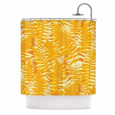 Fun Fern by Jacqueline Milton Shower Curtain Color: Orange/Gold