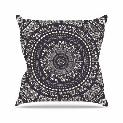 Swadesi Boho Mandala Throw Pillow Size: 18 H x 18 W x 6 D, Color: Black