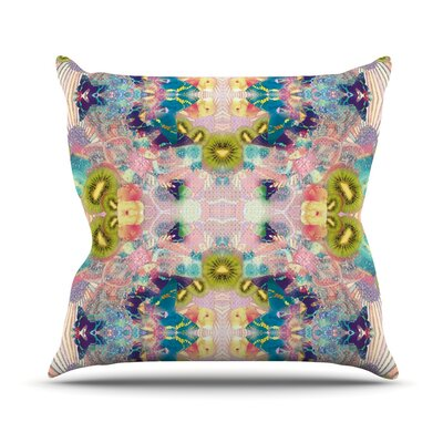 Psychedelia by Danii Pollehn Throw Pillow Size: 18 H x 18 W x 3 D