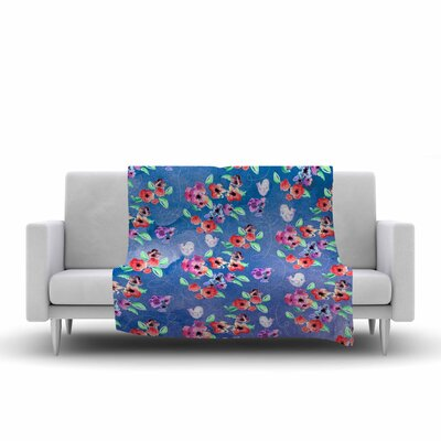 Signs of Spring Fleece Throw Blanket Size: 90 L x 90 W
