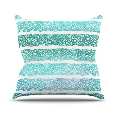Leafs from Paradise by Pom Graphic Design Outdoor Throw Pillow Color: Blue/Green