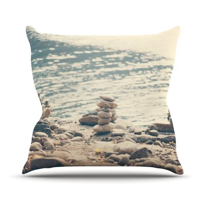 River Cairns by Catherine McDonald Throw Pillow Size: 16 H x 16 W x 3 D