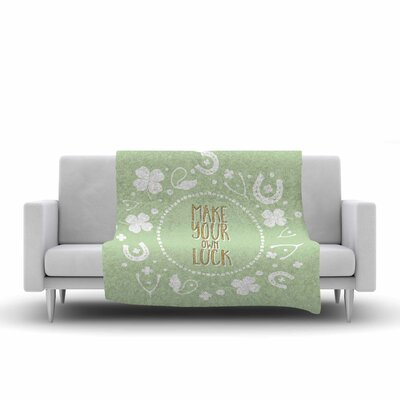 Own Luck Fleece Throw Blanket Size: 90 L x 90 W