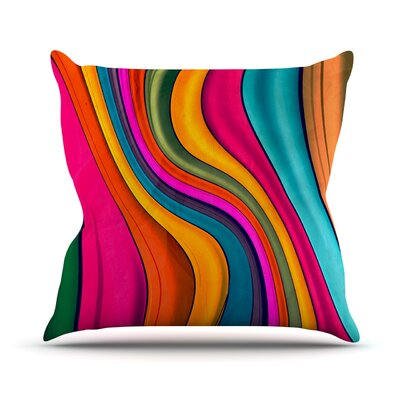 Lov Color by Danny Ivan Throw Pillow Size: 26 H x 26 W x 5 D