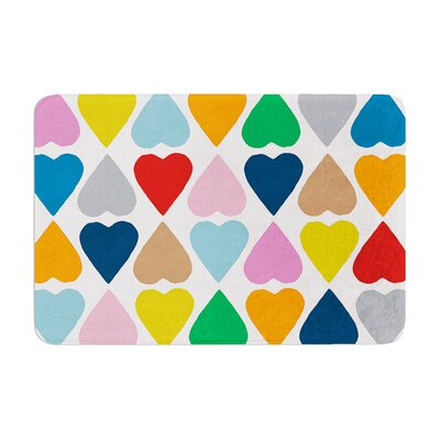 Diamond Hearts by Project M Bath Mat Color: Multi