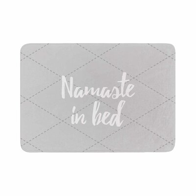 Namaste in Bed Memory Foam Bath Mat Color: Gray/Pink