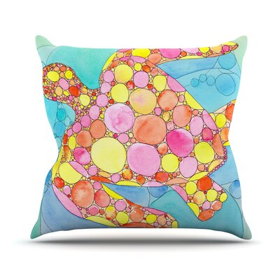 Circle Turtle by Catherine Holcombe Throw Pillow Size: 26 H x 26 W x 5 D