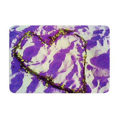 Tiger Love by Anne LaBrie Bath Mat Color: Purple, Size: 24 W x 36 L